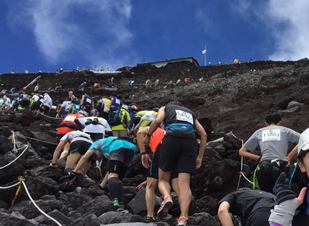 富士登山9合目